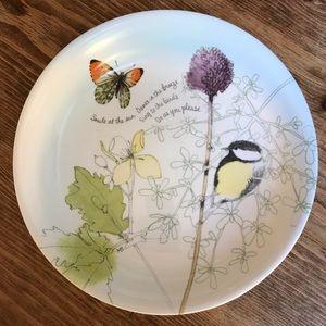 Hallmark butterfly & bird bowl